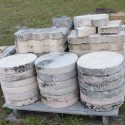 Round Stepping Stones on front of pallet and Border Edging on back of pallet choice  $2.00 each